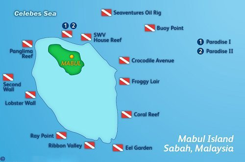 Mabul Dive Map